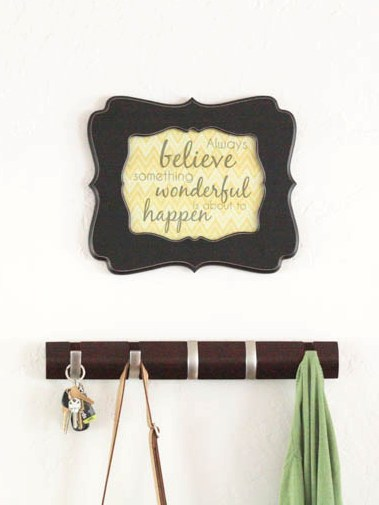 """Always Believe"" Fabric Art and Free Printable"