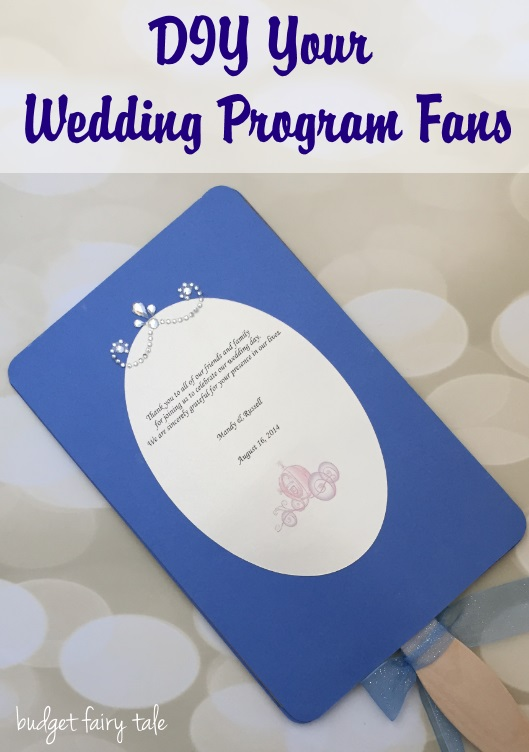 Anatomy of a Disneyland Wedding Program Fan
