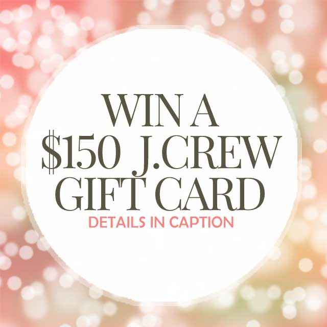 $150 J.Crew Giveaway on Instagram
