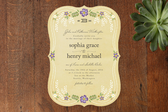 fairy tale wedding invitations from minted - this fairy tale life,