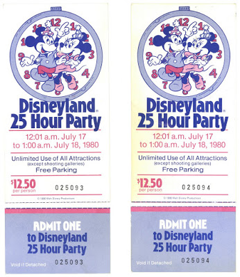 Disneyland 1980 tickets