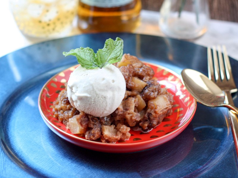 Spiced Apple Caramel Bread Pudding - This Fairy Tale Life