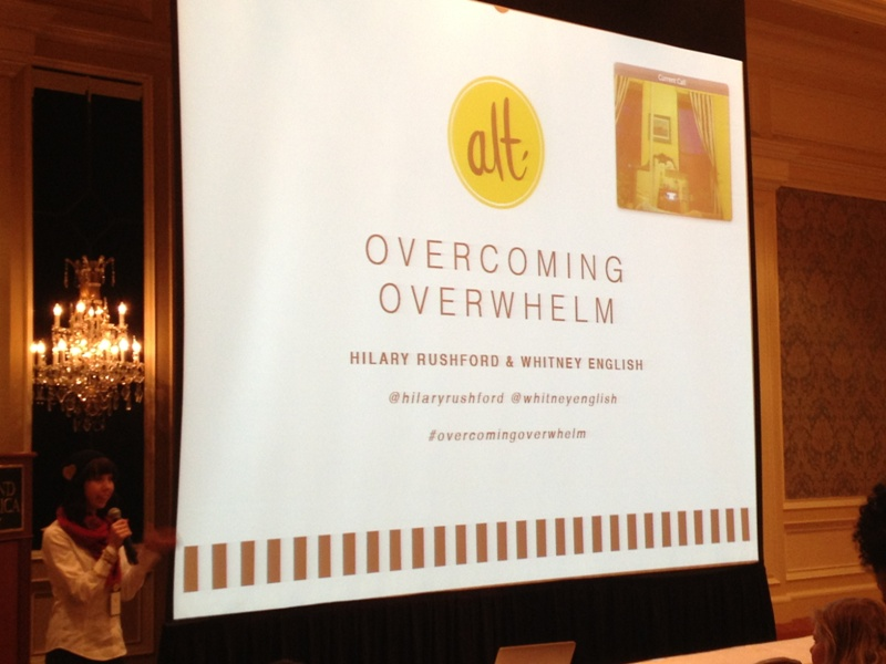 Alt Summit 2014: Overcoming Overwhelm // Budget Fairy Tale