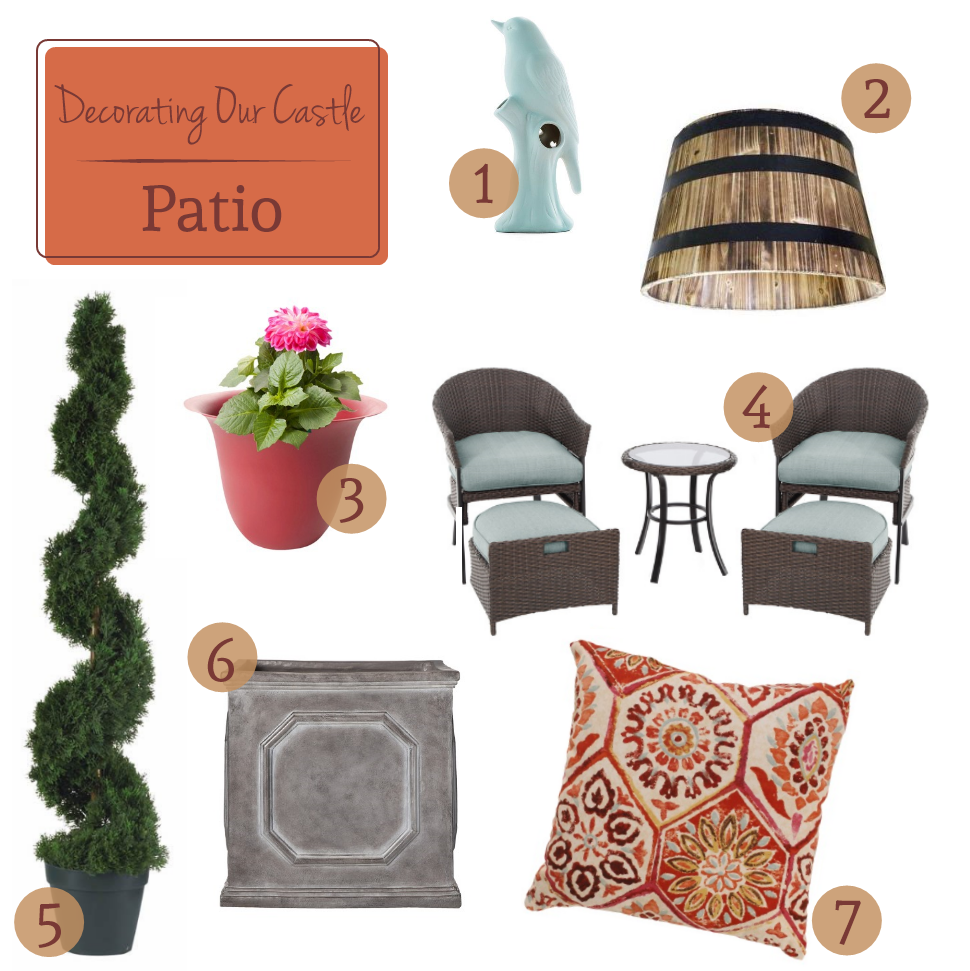 Decorating Our Castle - The Patio // Budget Fairy Tale