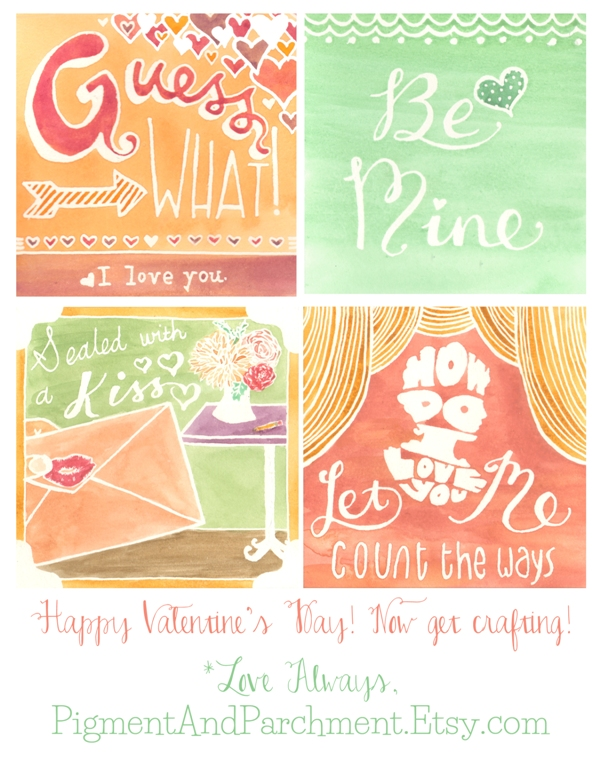 Free Valentine Printables from Pigment and Parchment // Budget Fairy Tale
