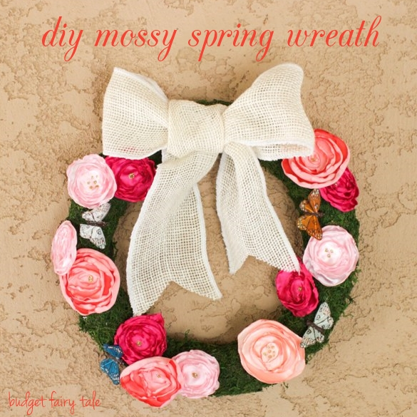 DIY Mossy Spring Wreath