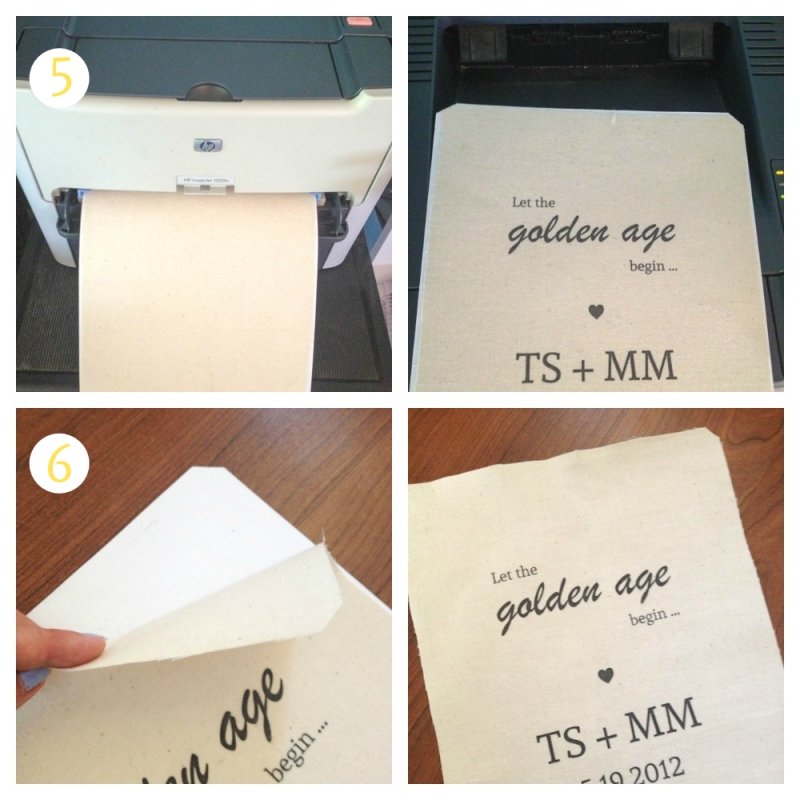 Second Anniversary Gift - DIY Cotton Printable Sign