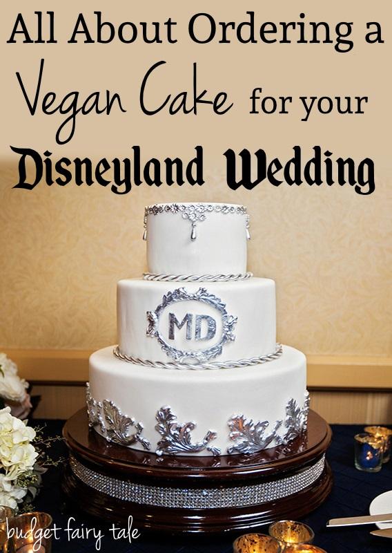 Disneyland wedding vegan cake