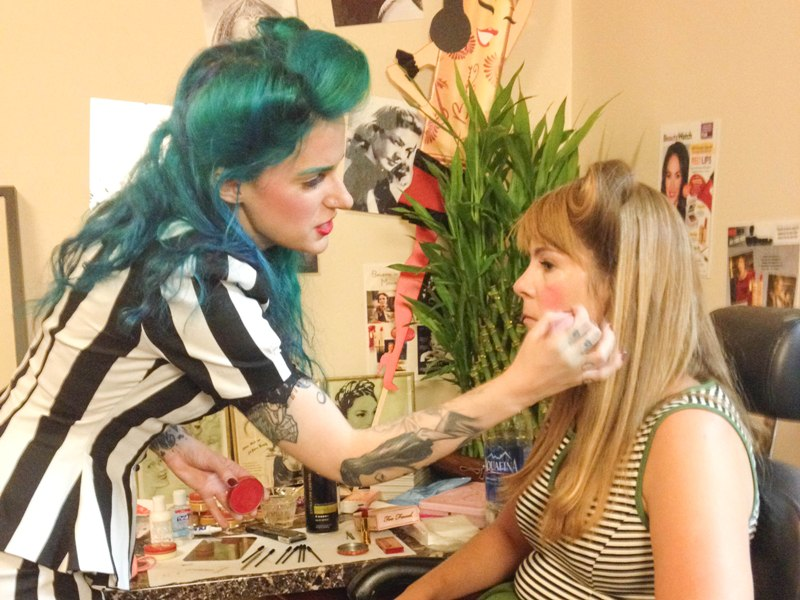 Vintage Makeup And Hair Styling Class at Besame Cosmetics