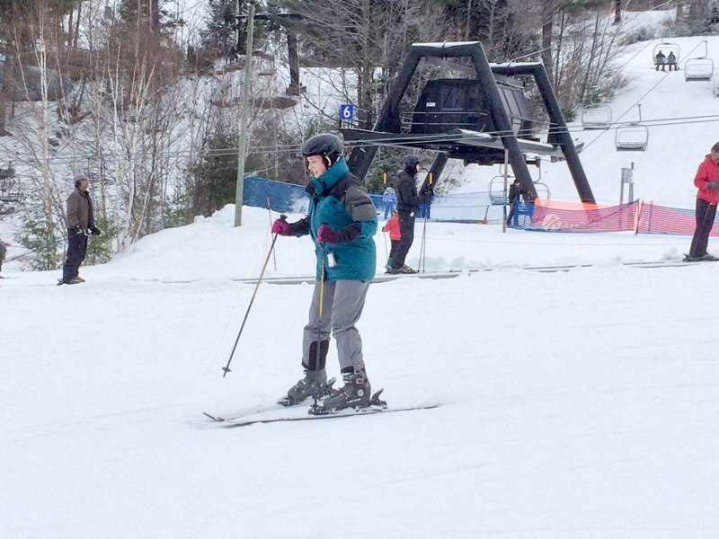Mindy Verses the Snow: My First Ski Lesson