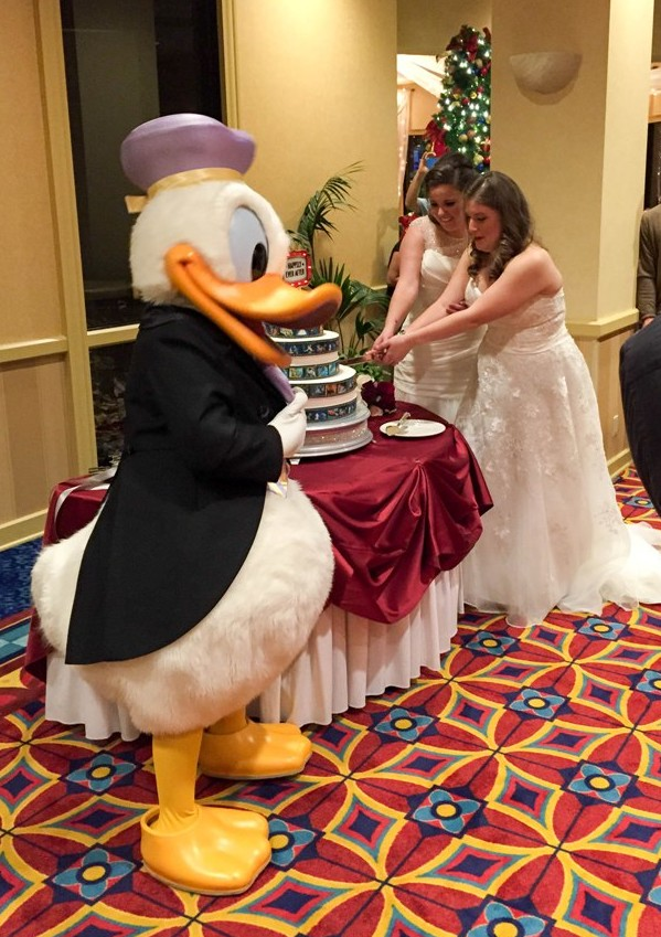 """A True """"Guest"""" Post - Renee and Diana's Red and White Winter Disneyland Wedding"""