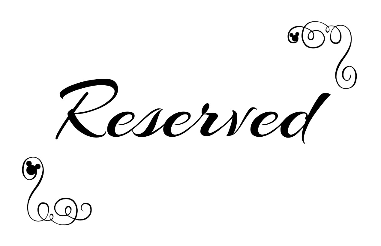 Sly image for printable reserved signs for wedding