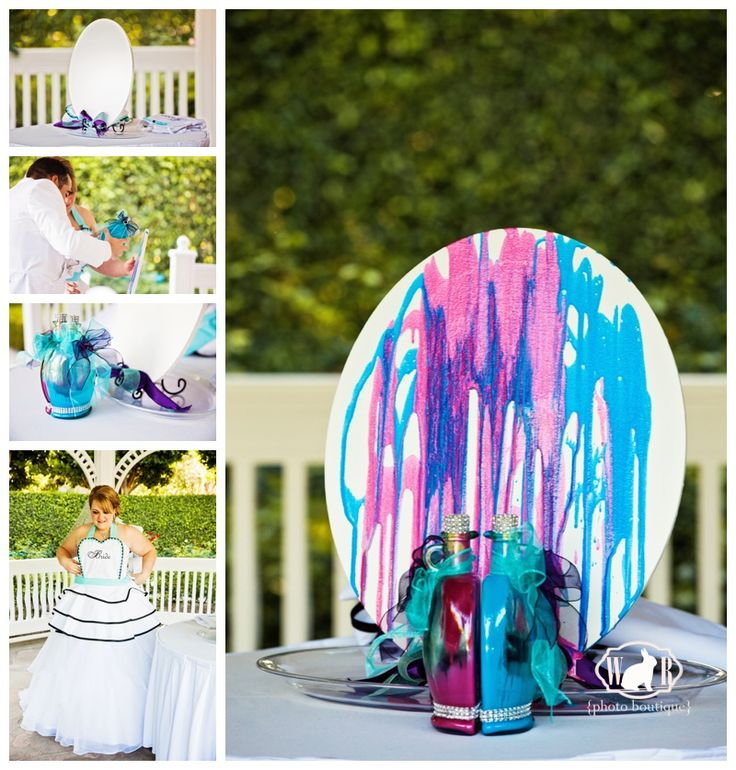 Interactive Wedding Ideas: Brilliant Idea: Have A Unity Paint Ceremony At Your