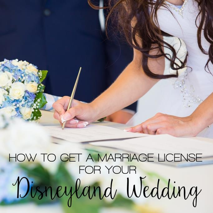 How To Get A Marriage License For Your Disneyland Wedding This