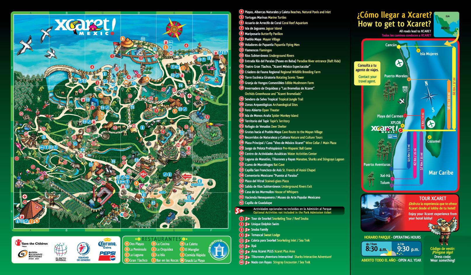 mapa-de-atracciones-de-xcaret