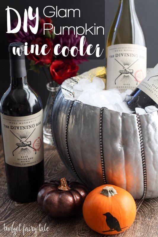 DIY Glam Pumpkin Wine Cooler
